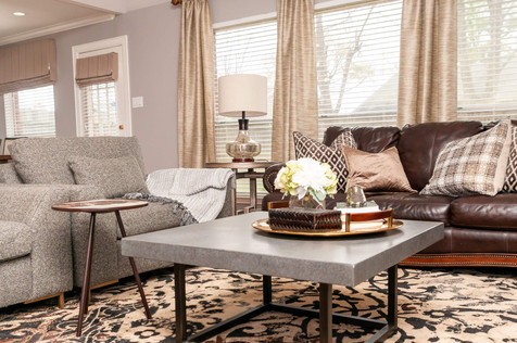 finishing details while home staging