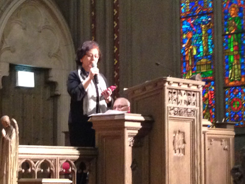 Singing in Church at Interfaith event