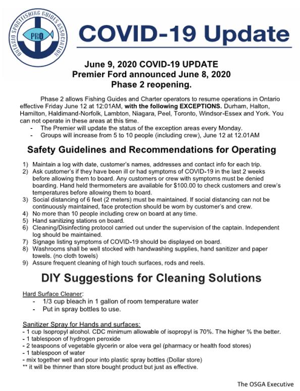 OSGA Covid 19 Update