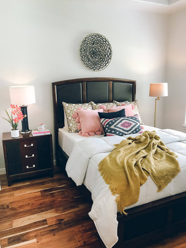 Home staged bedroom