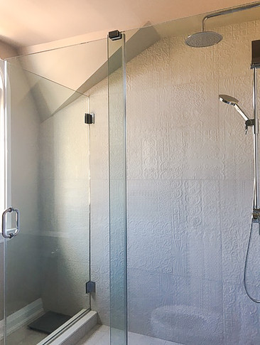 unique designed tile shower