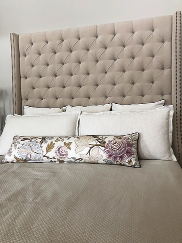 custom designed bedroom headboard