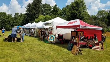 Craft vendors at Sunflower Festival