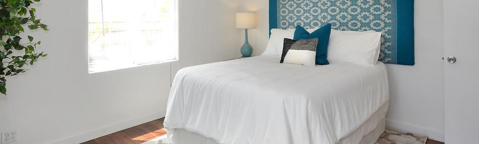 Bright Teal Bedroom