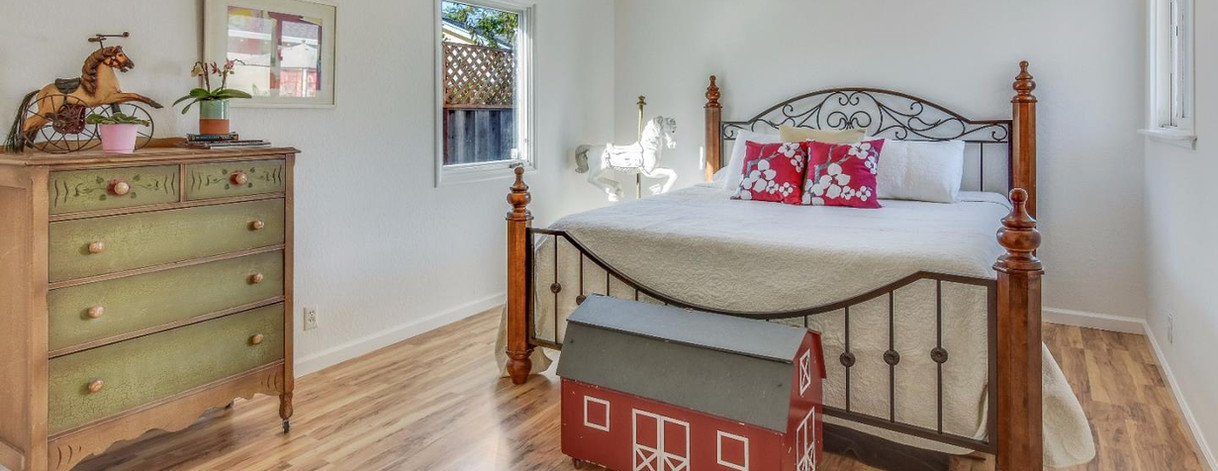 Bright White Guest Room