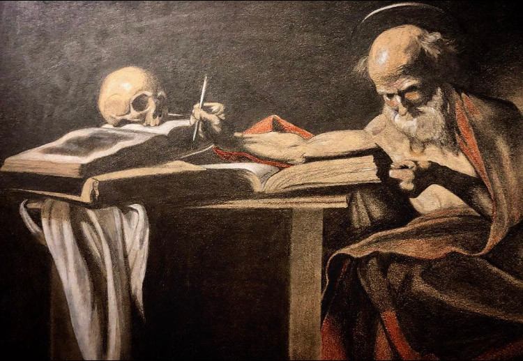 St. Jerome by Caravaggio - Study
