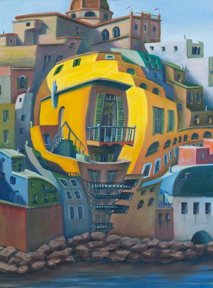 Balcony - M.C. Escher Study