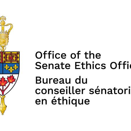 Sénat du Canada : modification au Code régissant l'éthique et les conflits d'intérêts des sénateurs