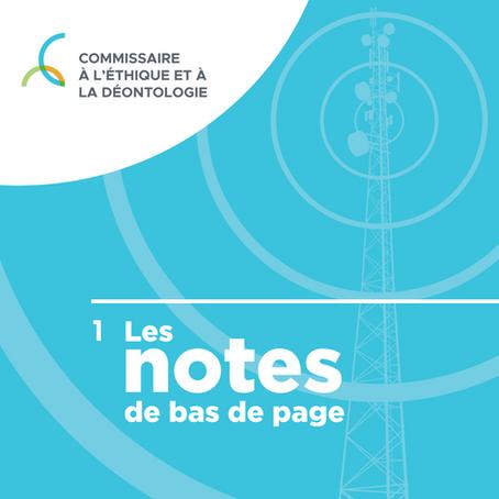 Les Notes de bas de page : un balado du Commissaire à l'éthique et à la déontologie du Québec