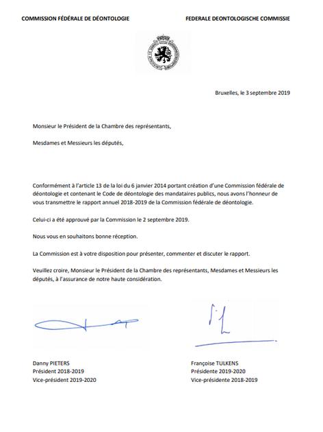 Commission fédérale de déontologie de Belgique