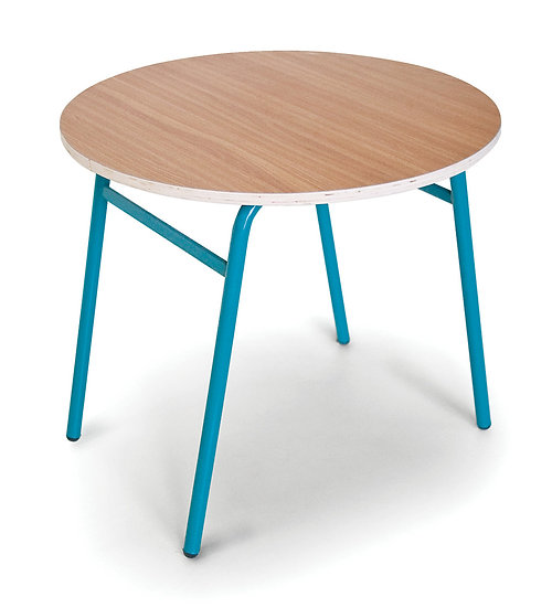שולחן עגול - רגלי מתכת