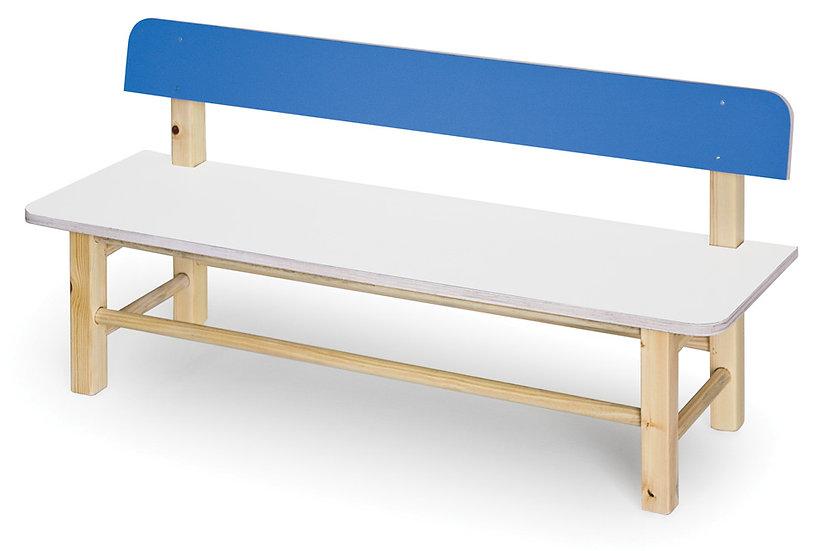 ספסל עץ + משענת