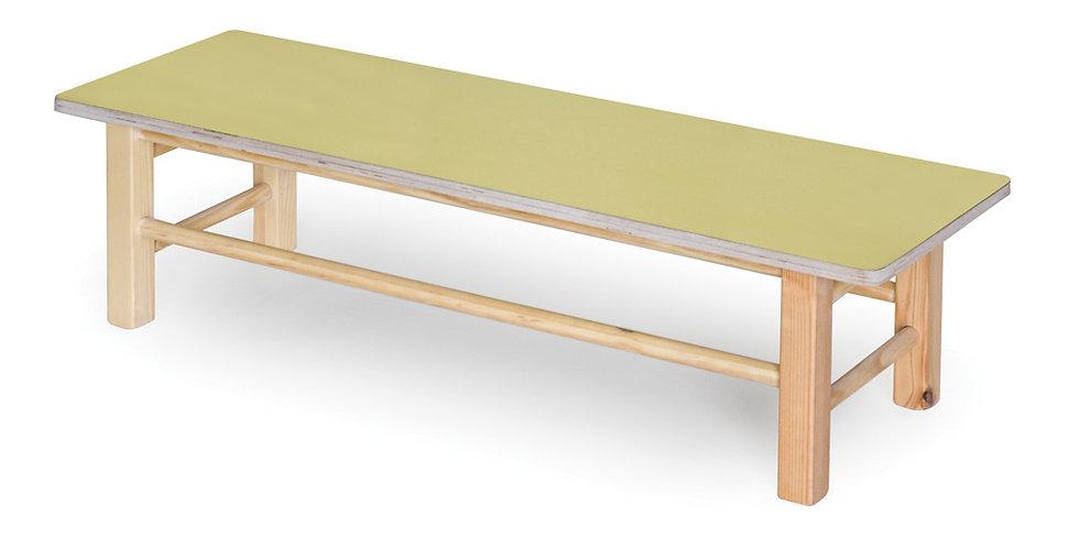 ספסל עץ - ללא משענת