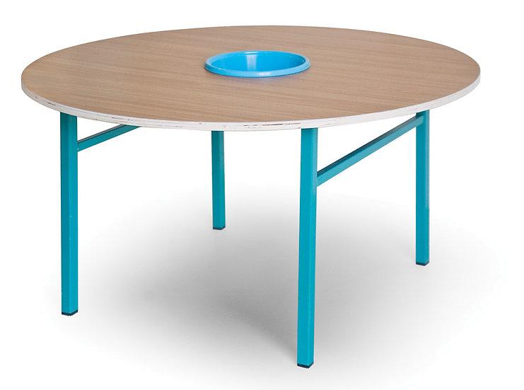 שולחן יצירה עגול + קערה