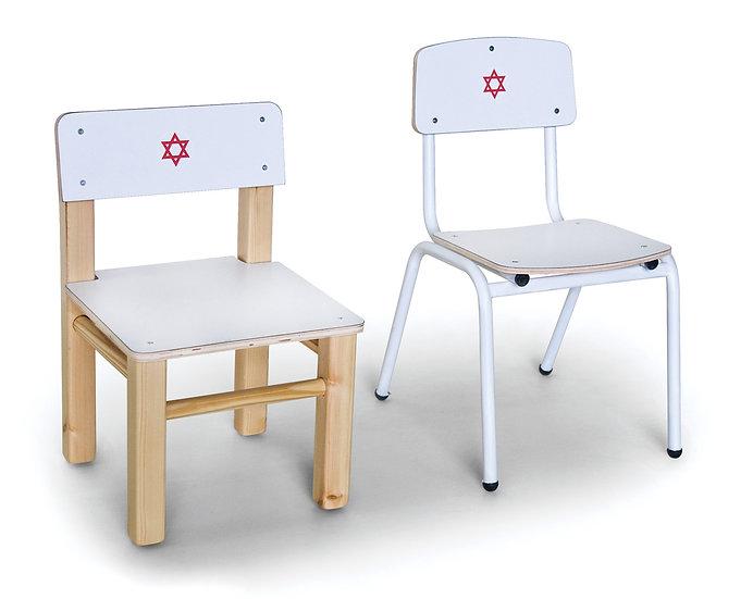 כסא רופא - מתכת/עץ