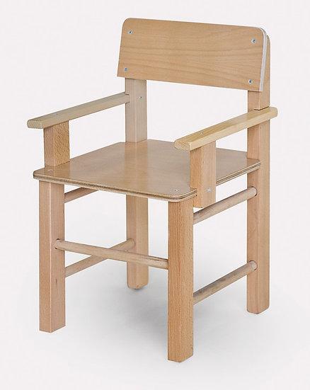 כסא עץ + ידיות