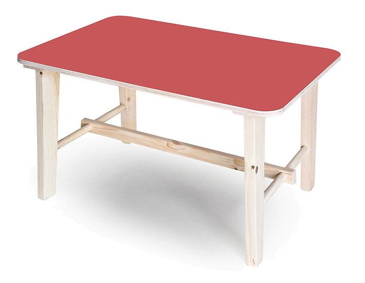 שולחן רגל עץ 90/60