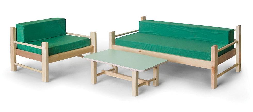 סט ישיבה -ספה + כורסא - דגם תפוז