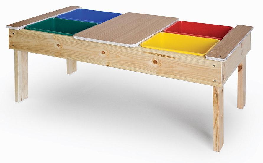 שולחן פעילות + 4 מיכלים