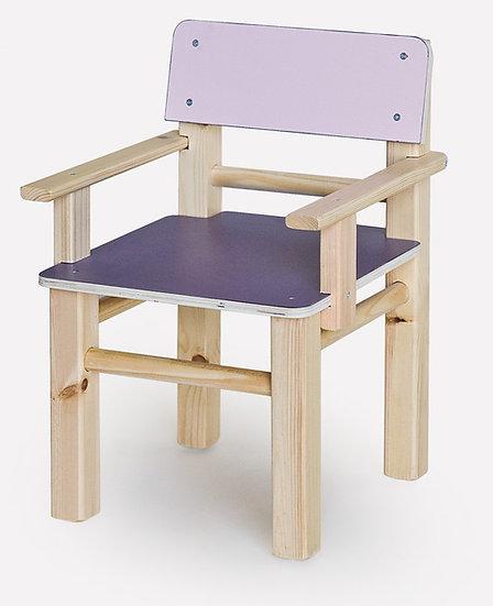 כסא עץ צבעוני  + ידיות