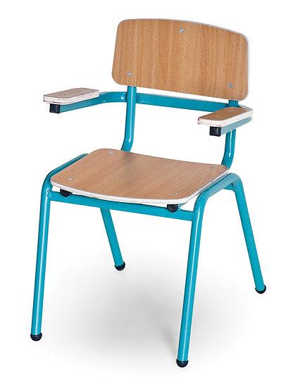 כסא עץ שלד מתכת + ידיות - בוק
