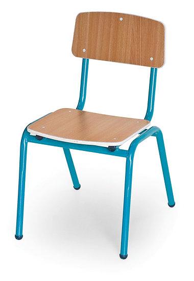 כסא עץ שלד מתכת - בוק