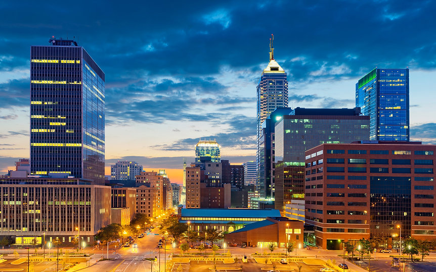 indianapolis-4k-modern-buildings-sunset-