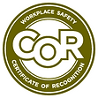 COR Certificate of Recognitio Workplace Safety logo