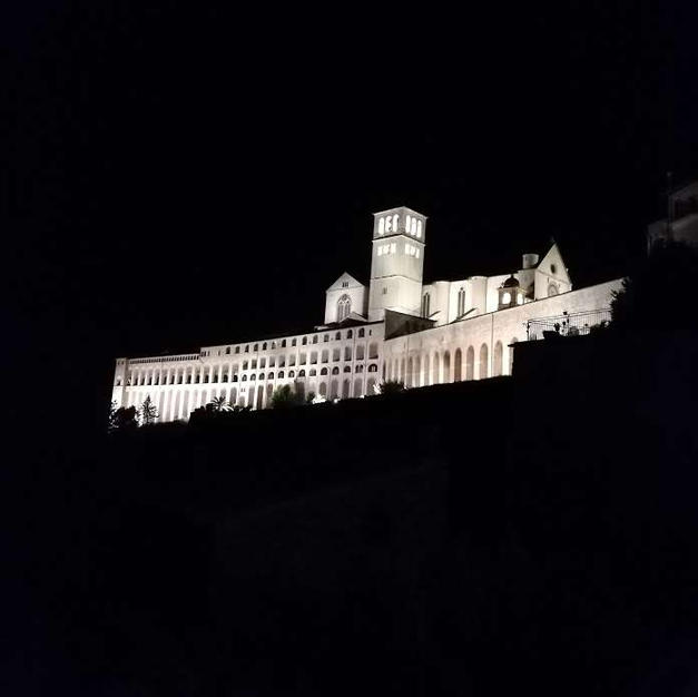 The Basilica by night