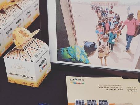 Suite et fin de notre action Chocolats-Solidaires en partenariat avec Morija