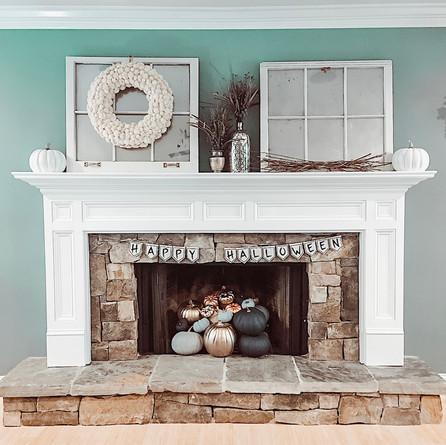 DIY Fall Fireplace Decor