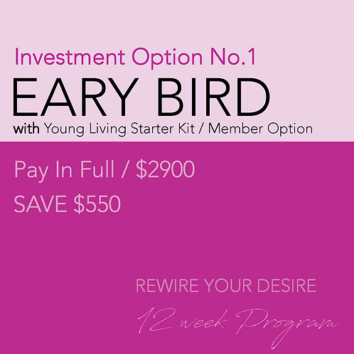 Early Bird PAY IN FULL with Young Living MEMBER Starter Kit sign-up