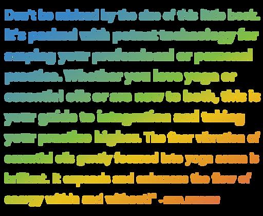 aroma yoga website TESTIMONIAL (rainbow