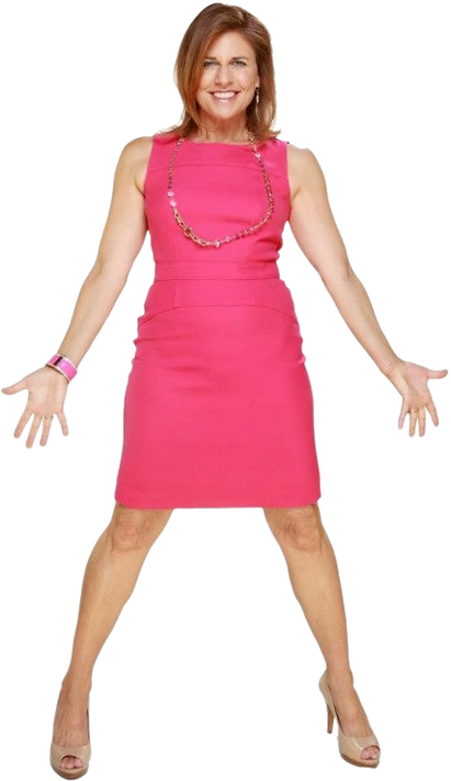 Tracy in pink dress TRANSPARENT BACKGROU