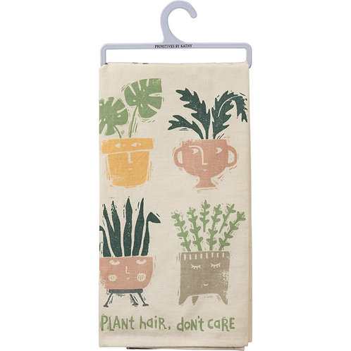 Plant Hair Don't Care Dish Towel