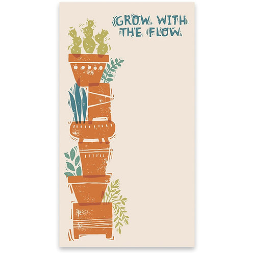 Grow With The Flow Large Notepad