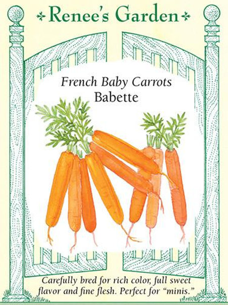Renee's Garden French Baby Carrots Babette Seed Packet