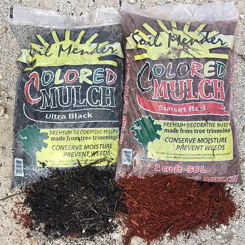 Black or Red Dyed Cedar Mulch