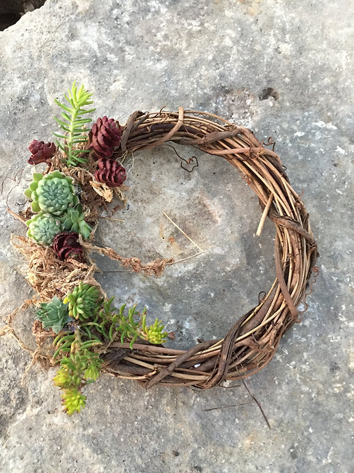 "Succulent Wreath (6"")"