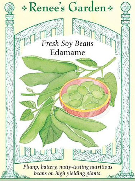 Renee's Garden Fresh Soy Beans Edamame Seed Packet