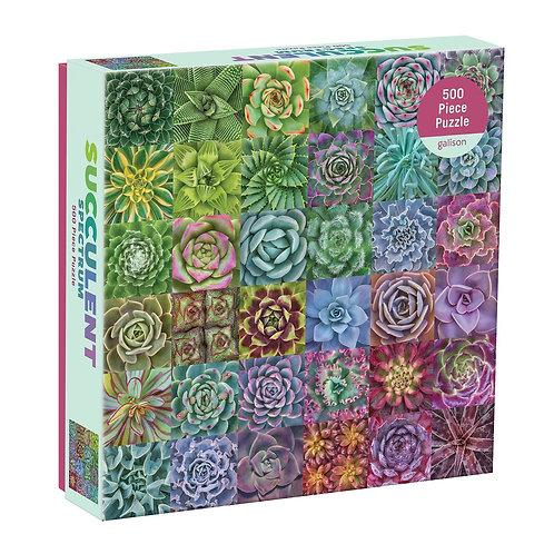Succulent Spectrum 500 Piece Puzzle