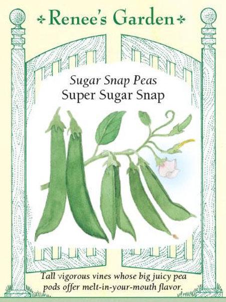 Renee's Garden Sugar Snap Peas Super Sugar Snap Seed Packet