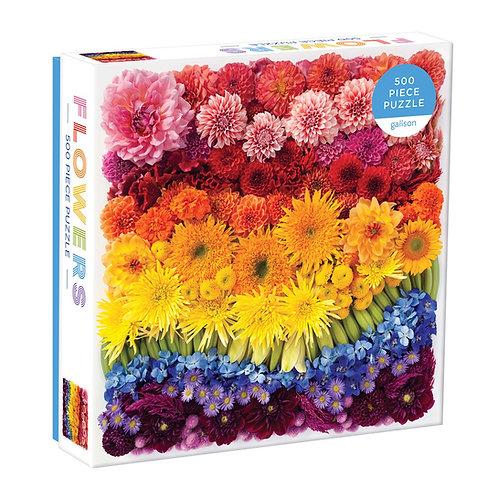 Rainbow Summer Flowers 500 Piece Puzzle