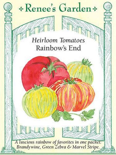 Renee's Garden Heirloom Tomatoes Rainbow's End Seed Packet