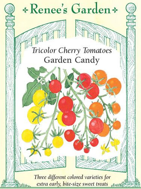 Renee's Garden Tricolor Cherry Tomatoes Garden Candy Seed Packet