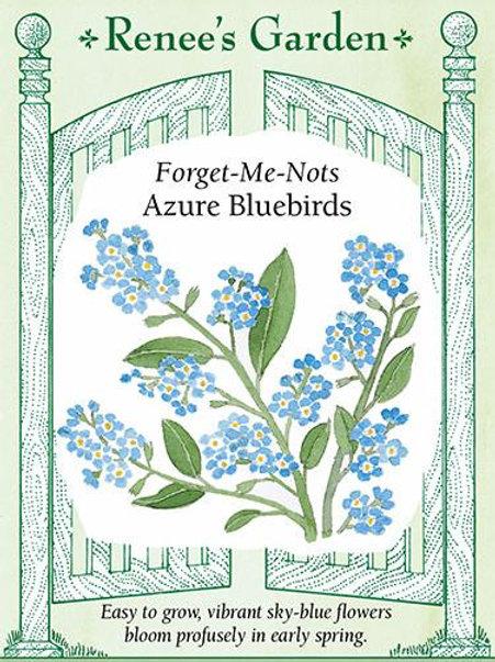 Renee's Garden Forget-Me-Nots Azure Bluebirds Seed Packet