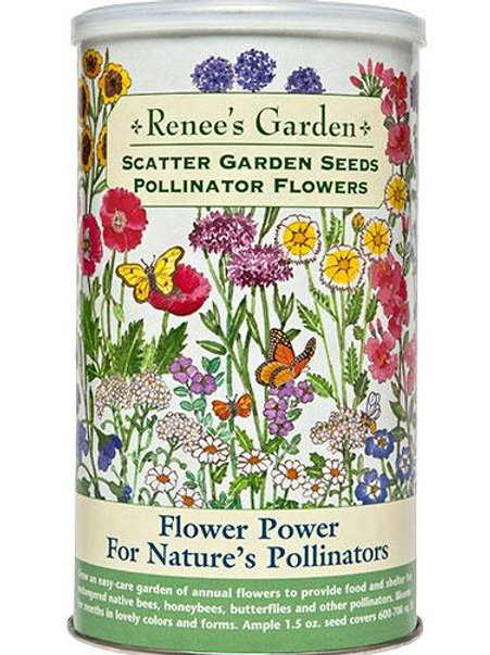 Scatter Garden Seeds Flower Power For Nature's Pollinators