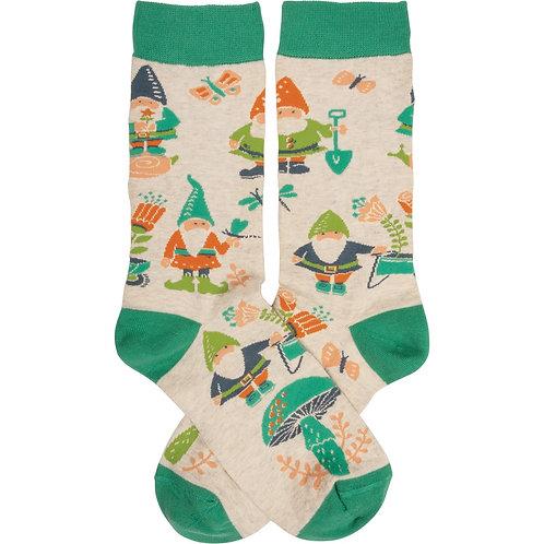 Gnome Garden Socks