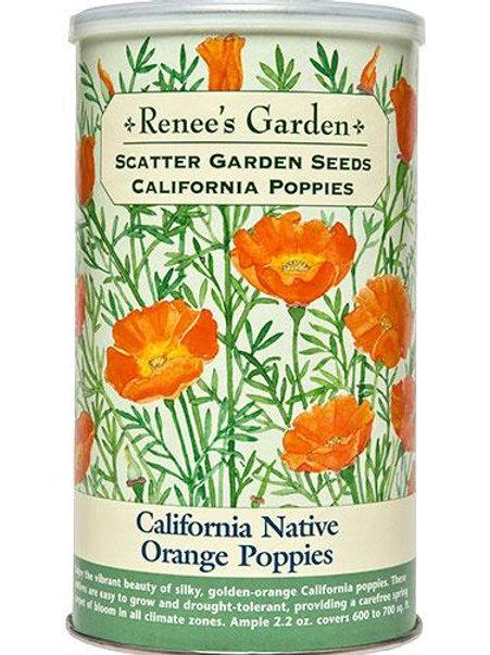 Scatter Garden Seeds California Native Orange Poppies