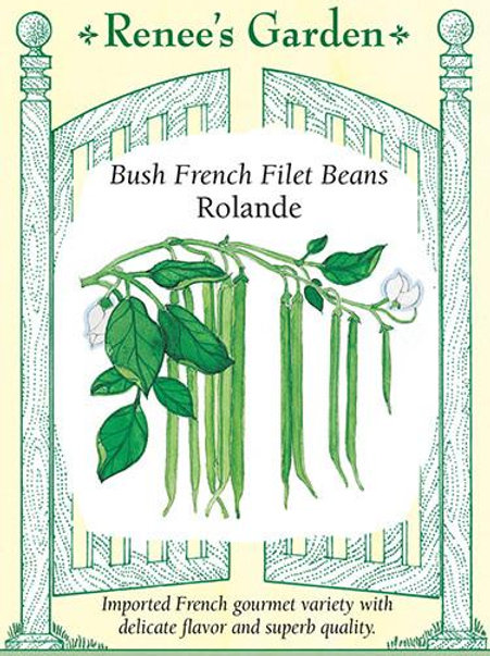 Renee's Garden Bush French Filet Beans Rolande Seed Packet